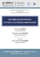 Nè pubbliche nè private: le fonti di autoregolamentazione